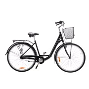 "Shopper 28"" 7-gear alu. stel 47cm sort"
