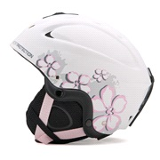 Skihjelm hvid/pink small (53-55 cm)