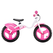 L&oslash;becykel/balancecykel JD BUG hvid/pink