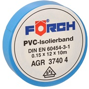 Isoleringsbånd, 10M x 12 mm, blå